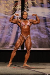 Juanita frontal pose with double bicep