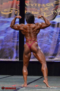 Juanita Rear Double Bicep Pose